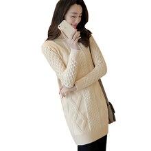 Длинные Для женщин Пуловеры для женщин 2017 повседневная женская обувь Высокое качество Водолазка Мода Демисезонный тонкий эластичный сплошной вязаный свитер YP0402