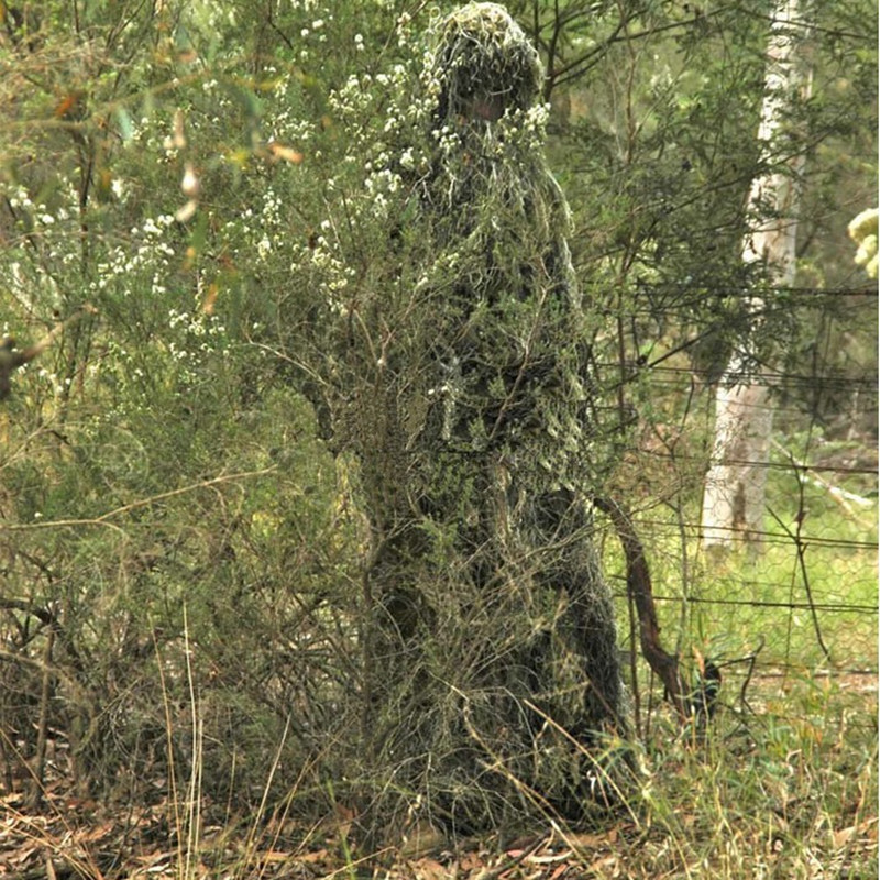 CAMO GHILLIE Hunting Clothing camouflage shade cloth TACTICAL CAMOUFLAGE SUIT 4 Grass Type Camouflage Shade Cloth Ghillie Suit 5 pieces new ghillie suit camo woodland camouflage forest hunting 3d