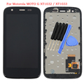 For Motorola MOTO G XT1032 / XT1033 LCD Display touch Screen with Digitizer with Bezel Frame Assembly + Free Tools , Black
