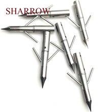 9 pçs arco e flecha bowfishing arrowhead parafuso de pesca broadhead pontos de seta tiro com arco de caça dicas lazer entretenimento campo