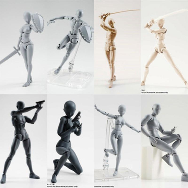 Anime Archetype BODY KUN / BODY CHAN DX SET PVC Action Figure Black PVC Action Figure Collectible Model Toy(China)