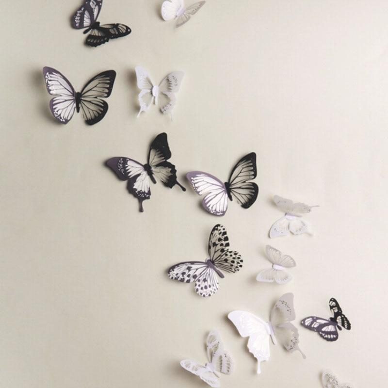 Marvelous 18pcs PVC 3D Wall Stickers Magnet Butterflies DIY Home Decor Poster Bar  Bathroom Kitchen Accessories Gadgets