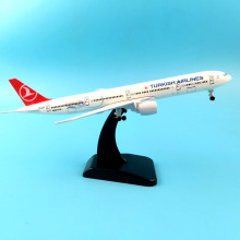 Aircraft Plane Model 20CM American TURKISH CANADA Emirates Singapore Vietnam France Egypt Saudi Airlines B777 Airplane model