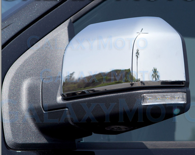 Xyivyg   For Ford F Truck Triple Chrome Plated Mirror Cover  Pair
