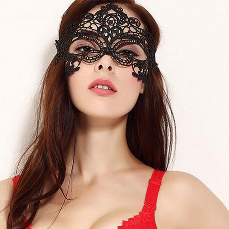 Women Black <font><b>Sex</b></font> Lace <font><b>Mask</b></font> Party Mysterious Retro Lady <font><b>Eye</b></font> <font><b>Mask</b></font> For Masquerade Adult Game Party Fancy Dress Venetian <font><b>sex</b></font> products image