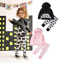 Newborn Baby Girls Boy Autumn Hooded Tops Batman Pants 2pcs Outfits Clothes Set
