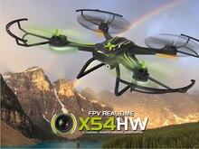 Syma x54hw fpv antena de transmissão em tempo real 2.4g 4ch fpv quadcopter mini zangão com câmera vs syma x5hw x5sw versão atualizada