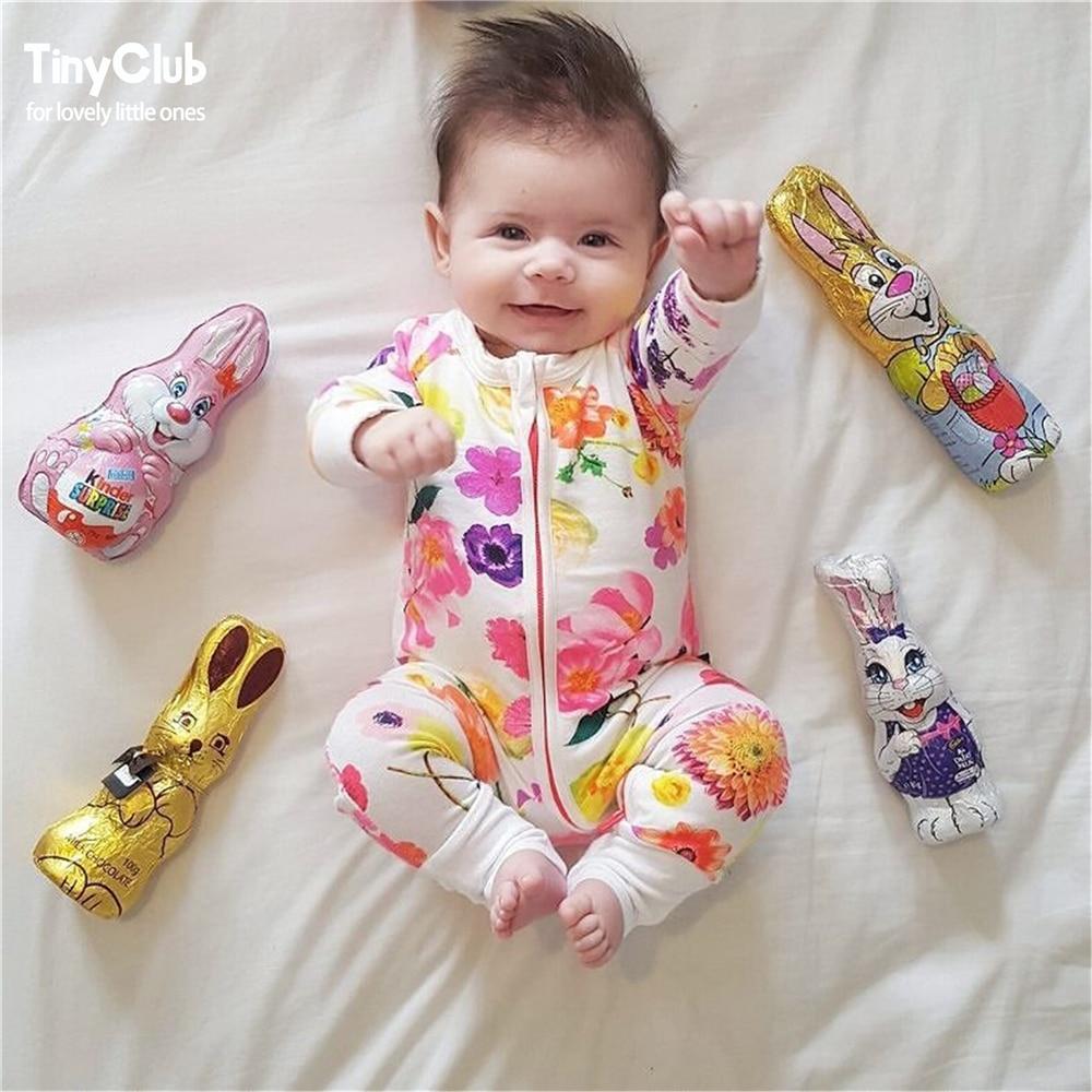 Infant Jumpsuit Long Sleeves Floral Romper Baby Boy Girl ...