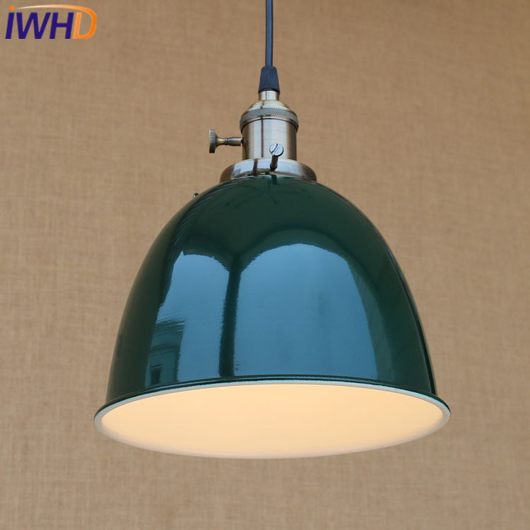 IWHD Iron Hanglamp Style Loft Vintage Industrial Lighting Hanging Lights Kitchen Dining Bedroom Retro Lamp LED Pendant Lights iwhd loft retro led pendant lights industrial vintage iron hanging lamp stair bar light fixture home lighting hanglamp lustre