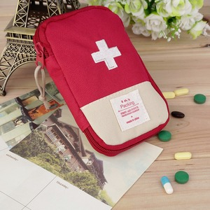 Durable Outdoor Camping Home Survival Portable First Aid Kit bag Case Convenient handle for easy-carrying 3 Colors Optional