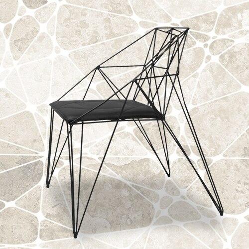 Pierced wrought iron chair black white modern minimalist chair creative  furniture Ikea chairs reception chairs-