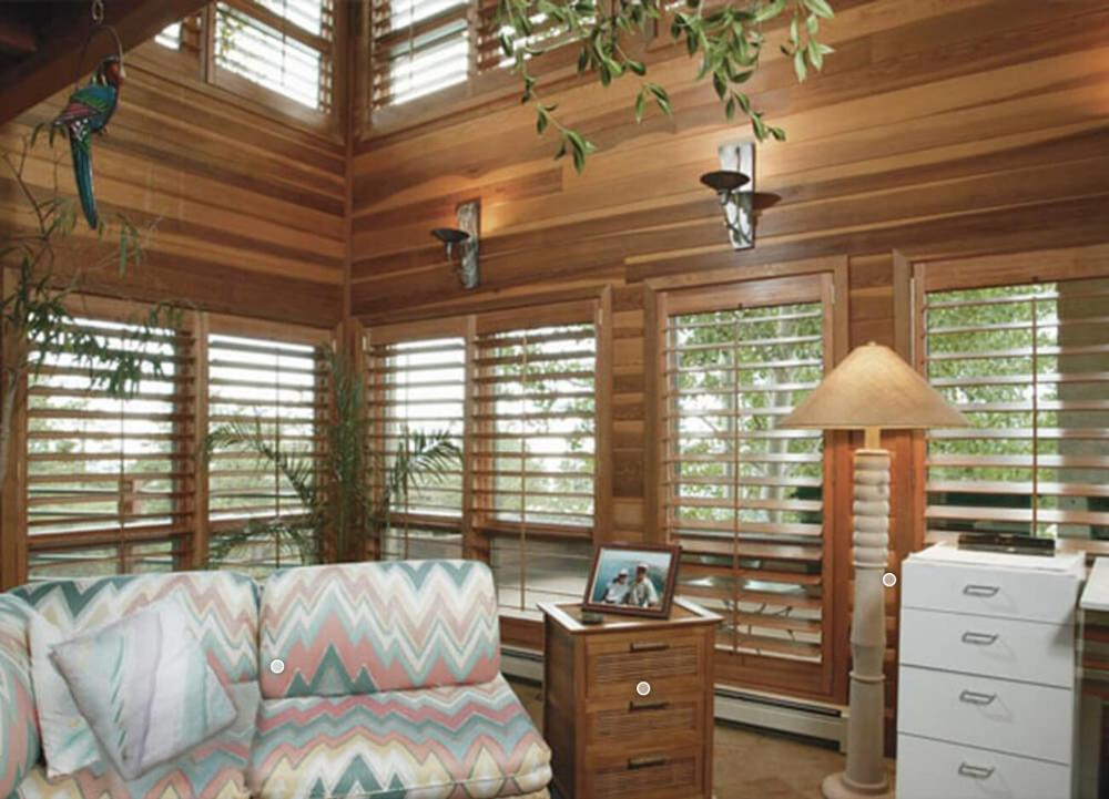 High Quality Customized Wood Shutters For Round Windows Window Shutter
