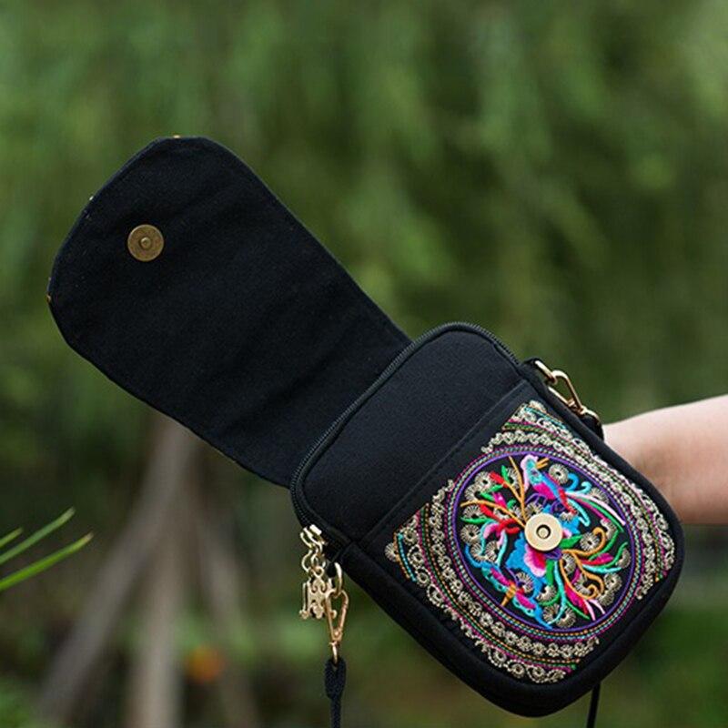 thai bordado bolsa de ombro Color : Red, Blue, purple