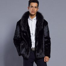 Best selling! Men 2018 new winter black fashion longhaired faux fur coat Fox fur Turn-down Collar full fur coats men fur jacket andreas hauser computer aided selling fur ein projektorientiertes mittelstandisches unternehmen