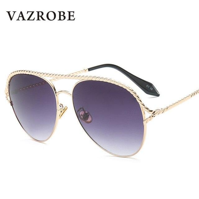 d0b88564a872f Vazrobe Flat Top Mens Aviação Óculos De Sol Espelhado Óculos De Sol para  Homem Fêmea Grande