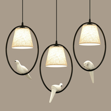 Mediterranean single bird pendant light dining room lamp study bar suspension luminaire цены