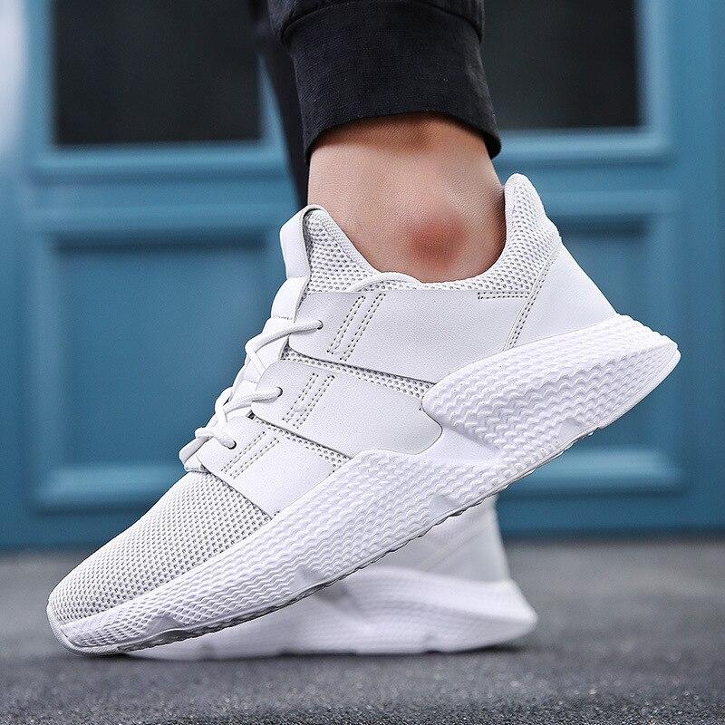 Doux Non assorties Respirant Hommes Sneakers Maille 2018 Qualité Haute Noir Noir Nouveau Adulte D'été slip Confortable Homme Chaussures Blanc blanc HHv5rwd7q