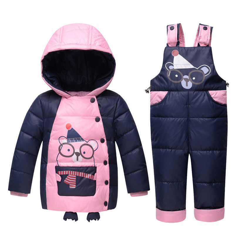 Baby Long Fur Snowsuit Animal Lovely Hooded Parka Baby Boy Clothes Girl Coats And Jackets Winter Down Snow Overalls Infant 2016 winter boys ski suit set children s snowsuit for baby girl snow overalls ntural fur down jackets trousers clothing sets