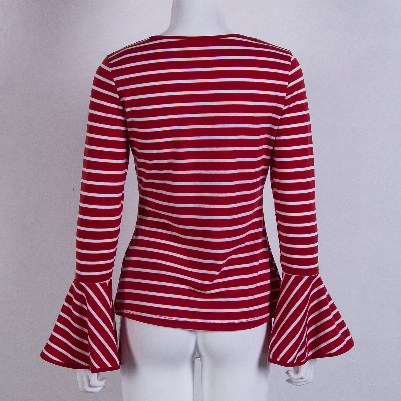 2854aec43 Red And White Striped Tee Shirt Womens – EDGE Engineering and ...
