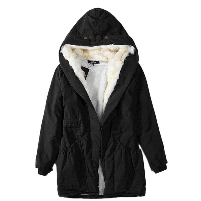 New Fashion Casual Solid Color Women Parkas Lady Winter Slim Jacket Long Coat Sustans Women's Clothing LB