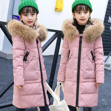 Children Warm Winter Down Parkas Girls Fleece Fur Collar Duck Down Snowsuits Jacket Boys Thicken Hooded Outerwear AA51914
