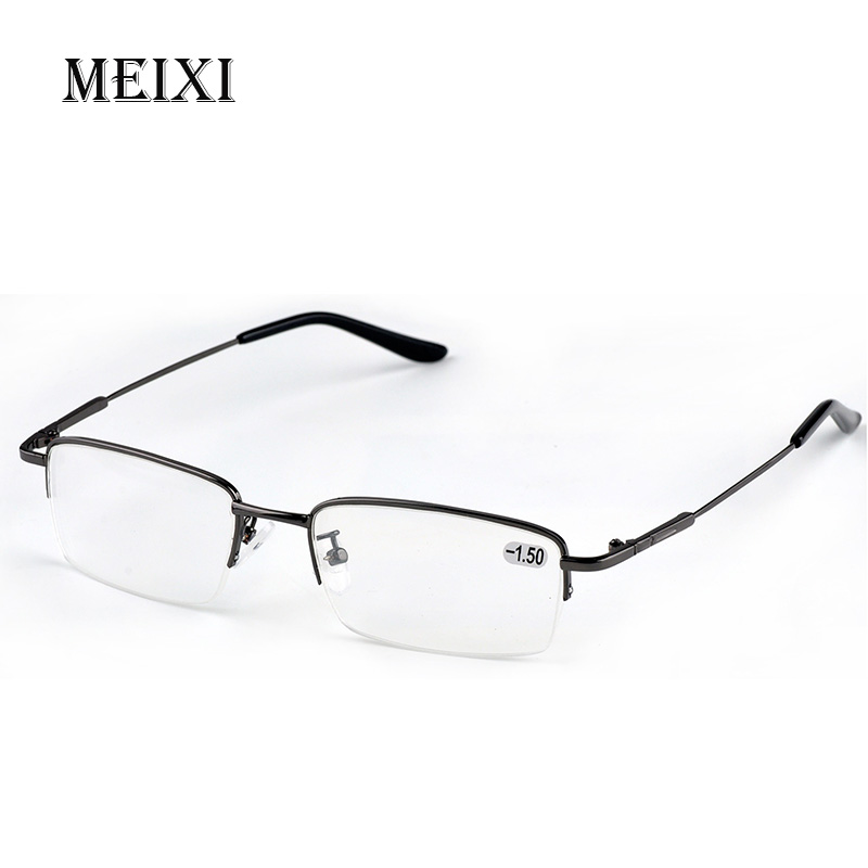 1.0-1.5-2.0 To 6.0 Finished Myopia Glasses Retro Cat Eye Anti-blue Light Short-sighted Nearsighted Glasses Black/gold Frame Hearty