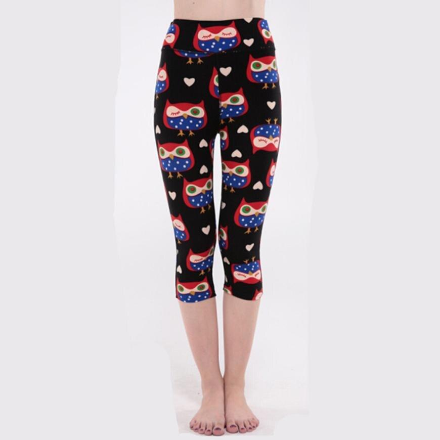 65c3711de9b9f JUNN16 Training Trousers Tights Women Elasticity Owl Print Exercise Yoga  Sports Fitness