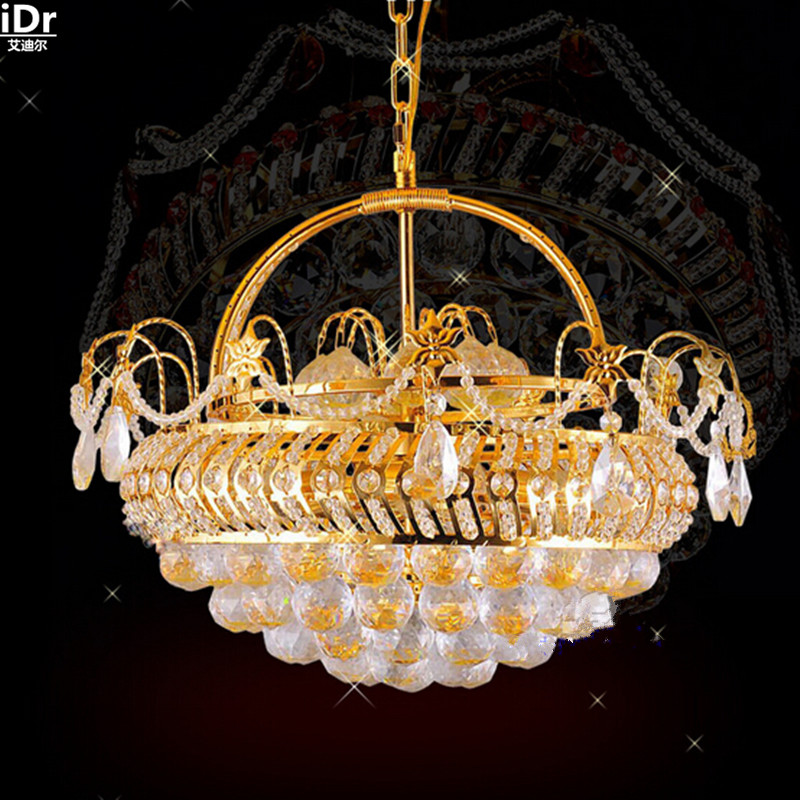 Traditional yellow crystal lamp restaurant lamp chandelier lamp factory Flower Basket gold Chandeliers Lmy 0187|gold chandelier|crystal lamp|lamp chandelier - title=