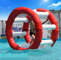 inflatable water floating wheel inflatable air roller wheel fitness Roller Gymnastics inflatable hamster wheel water treadmill