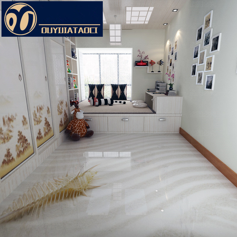 tiles for living room floor blue and yellow color scheme white water drop modern 3d polished crystal full body tile decoration art personality glazed