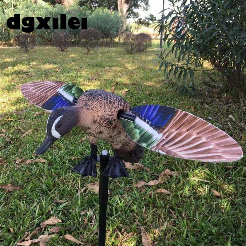 2019 새로운 xilei 푸른 날개 날개 달린 청록색 회전 동력 된 오리 미끼 자석 날개