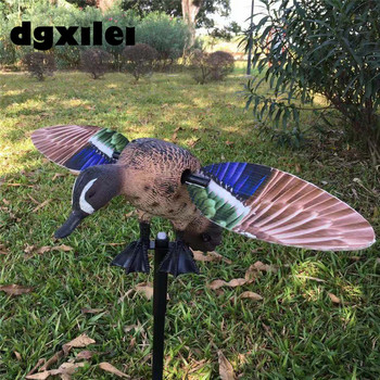 2019 NEW Xilei Blue Wing Winged Teal Spinning Motorized Duck Decoy Magnetic Wings hunting gadwall duck decoy electric flying duck motorized duck decoy with remote control