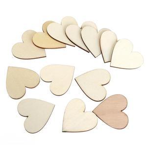 BESTOYARD DIY Blank Heart Wood Slices Discs Wood Heart Love Blank Unfinished Natural Crafts Supplies Wedding Ornaments(China)