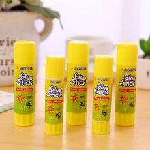 Цветной желтый твердый клей с высокой вязкостью, твердый клей-карандаш для домашнего творчества, бумажная карта, фото, клей-карандаш, канцелярские товары, 1 шт