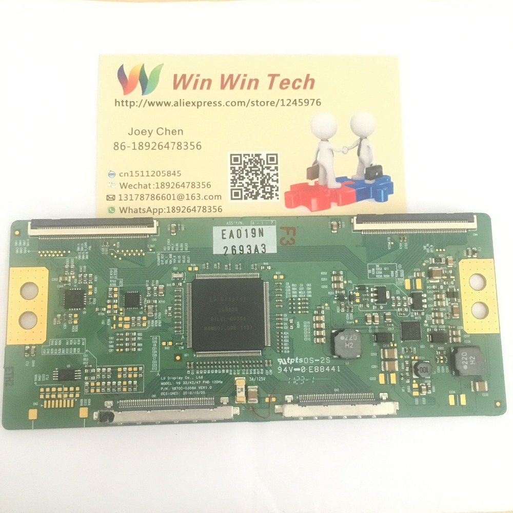 Free Shipping Original 6870C-0358A  LCD Board For V6 32/42/47 FHD 120HZ 6870C-0358A VER1.0 Logic Board 6870C-0358A