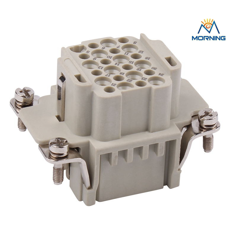 HDD-024 Female Male insert 24 Pins Copper Alloy Material Industrial Current 10A Voltage  Heavy Duty Connector Crimp Terminal mk he 024 3 he series cheap waterproof male female 24 pin industrial amphenol heavy duty connectors