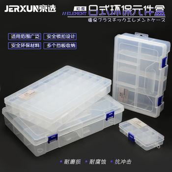 JERXUN przezroczyste plastikowe części skrzynka elektroniczna akcesoria śruba części pole sprzętu przybornik wielu-grid części pudełko tanie i dobre opinie JX-1011 Z tworzywa sztucznego