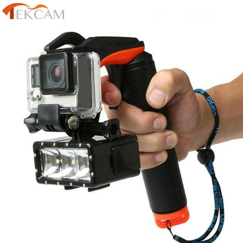 Tekcam Sous-Marine stabilisateur Déclenchement de L'obturation Grip Flottant Bâton Pour Gopro Hero 4 3 + Xiaomi Yi 4 k plus SJ6 SJ7 D'action caméra
