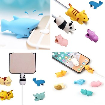 Cute Cartoon for iphone XR Case Cable Protector Saver Earphone Cord Protection USB Saver for iphone XS X 6s 6 XS Max 8 plus protectores de cargador iphone