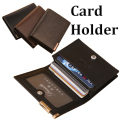 Hot selling High quality Genuine leather card wallets fashion designer bank card holder men wallet male bi-fold purse FGS146