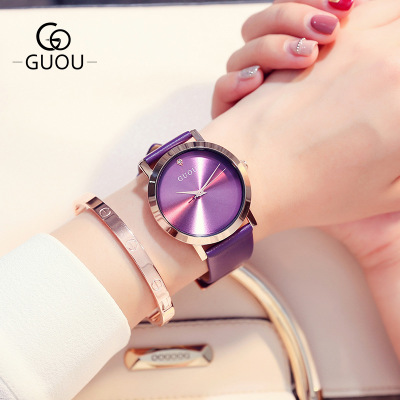 Top Brand Luxury Simple Casual Quartz Watch Gold Fashion Leather Women Watches Ladies Gift Clock reloj mujer Relogio Feminino megir brand luxury simple women watches stainless steel watch women quartz ladies wrist watch gold relogio feminino reloj mujer