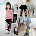 2016 New Baby Girls Clothes Skirt Pants Cartoon Cute Kiss  Leggings 2-7Y