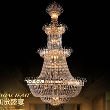 2016 Crystal Chandelier Gold Chandeliers Light Fixture Home Lighting European Hotel Club Stair Hanging Lights AC90V-260V