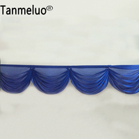 Ice silk swag for wedding backdrop decoratin party curtain drape table skirt swag royal blue wedding decoration 20 ft