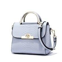 DOODOO Frauen Echtem Leder Handtaschen Patent Berühmte Marken Designer-handtaschen Hoher Qualität Beutel Crossbody Krokodiltasche T233