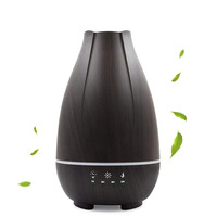 Best Sell New 500ML& LED Light Ultrasonic Aromatherapy Essential Oil Spray Wood Grain Black Diffuser Air Humidifier With EU Plug