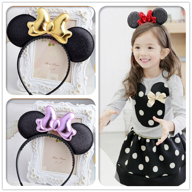 minnie mouse ears kids girls hair bands head hoop hairband accessories for children hair ornaments decorations tiara headdress simba пупс minnie mouse