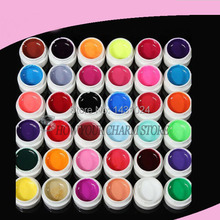 wholesale price New New 36 Colors Nail art Solid Color UV GE