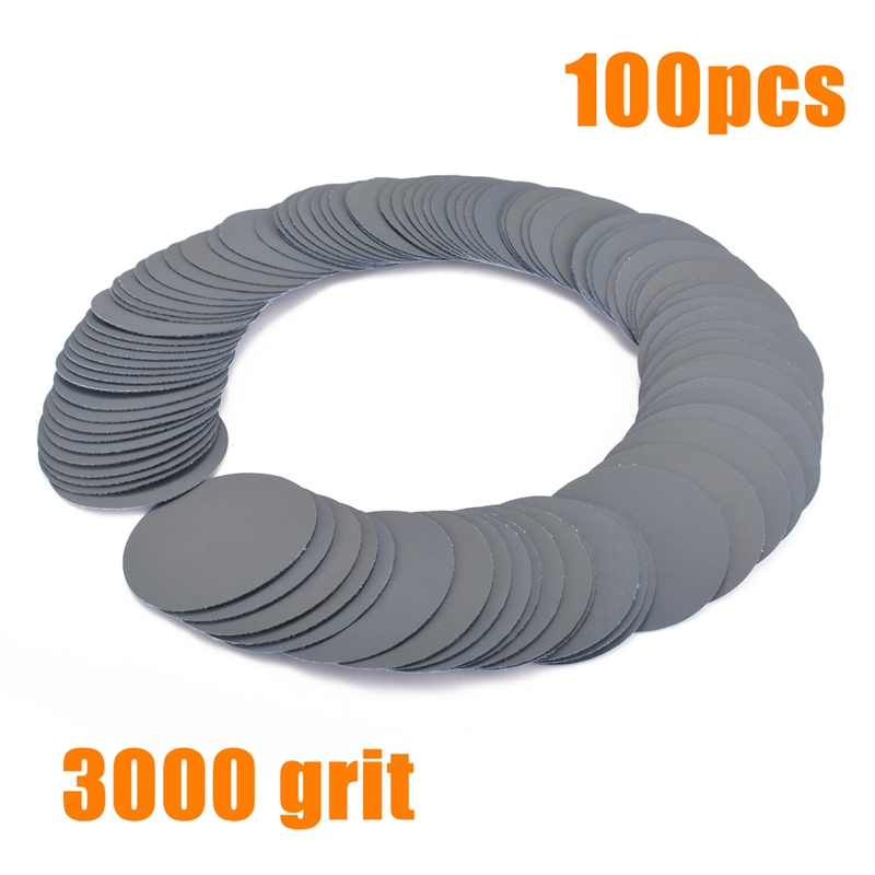 100pcs 3inch Sander Discs 3000Grit Sanding Paper Polishing Sander Pad Sandpaper for Abrasive Tools 5 sheets sandpaper waterproof abrasive paper sand paper 1xgrit 600 2x1000 1x1500 1x2000 silicone carbide grinding polish tool