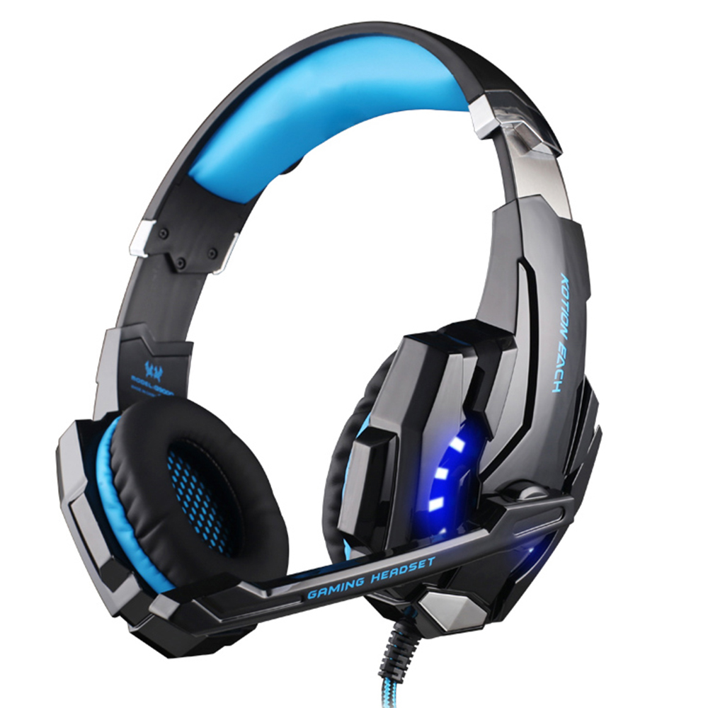 KOTION EACH Gaming Headphones Headset Deep Bass Stereo wired gamer Earphone Microphone with backlit for PS4 phone PC Laptop 2